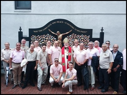 St. Anthony Society members and the Cardinal